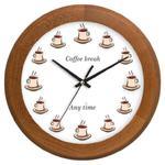 Zegar drewniany rondo COFFEE TIME w sklepie internetowym funnyclock.eu