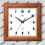 Anty zegar kwadrat drewniany lustro #1 w sklepie internetowym funnyclock.eu