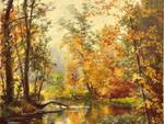Jesienny pejzaż obraz olej w sklepie internetowym Artillo