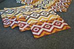 Podkładki pod kubki i talerze - brązowa mozaika w sklepie internetowym Artillo