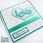 Perłowy turkus - kartka ślubna EKSPRES w sklepie internetowym Artillo
