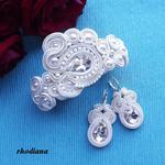 Kryształ & Ecru komplet ślubny sutasz w sklepie internetowym Artillo