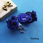 Szafirowo Czarna bransoletka z kryształkami w sklepie internetowym Artillo