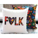Poduszka haftowana 40/40 FOLK aplikacje w sklepie internetowym Artillo