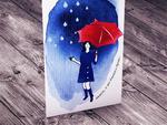 po deszczu TĘCZA... kartka na życzenia w sklepie internetowym Artillo