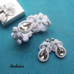 Kryształowo - Biały komplet ślubny sutasz w sklepie internetowym Artillo