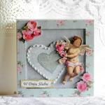 Kartka ślubna - niebieskie serce w sklepie internetowym Artillo