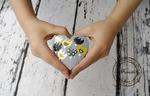 pudełko serce na obrączki tulipany w sklepie internetowym Artillo