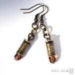Kaliber 5,6 w brązie 01 - kolczyki z łusek w sklepie internetowym Artillo