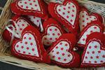 Skandynawskie serce z czerwonego filcu w sklepie internetowym Artillo