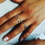 Zestaw 3 pierścionków Jadeit biały - model 4 w sklepie internetowym Artillo