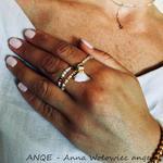 Zestaw 3 pierścionków Jadeit biały - model 2 w sklepie internetowym Artillo