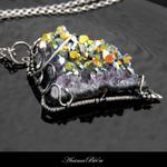 Wisiorek srebrny titanium aura ametyst w sklepie internetowym Artillo