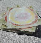 Szklane talerzyki hand made 6 sztuk Boho w sklepie internetowym Artillo