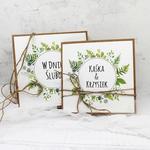 Kartka na ślub eko minimalistyczna w pudełku w sklepie internetowym Artillo