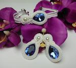 Biżuteria ślubna kryształki soutache sutasz w sklepie internetowym Artillo