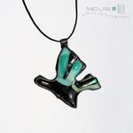 Motyl zielononiebieski - wisior w sklepie internetowym Artillo
