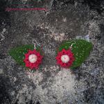 Szydełkowe kolczyki Kwiatki 3D w sklepie internetowym Artillo