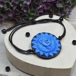 Bransoletka VISHUDDHA - regulowana bransoletka czakry gardła w sklepie internetowym Artillo