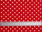 Tkanina czerwona w kropki - Polka Dot w sklepie internetowym Artillo