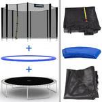 Trampolina ogrodowa 244 cm do 120 kg drabinka w sklepie internetowym home-fitness.pl