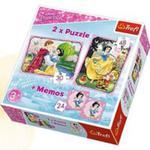 Puzzle 2w1+ Memos - Zakochana Śnieżka Trefl w sklepie internetowym Gigant.pl