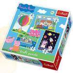 Puzzle 4w1 Mix Przygody Peppy w sklepie internetowym Gigant.pl