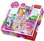 Puzzle 3w1 My Little Pony Zabawy Kucyków w sklepie internetowym Gigant.pl