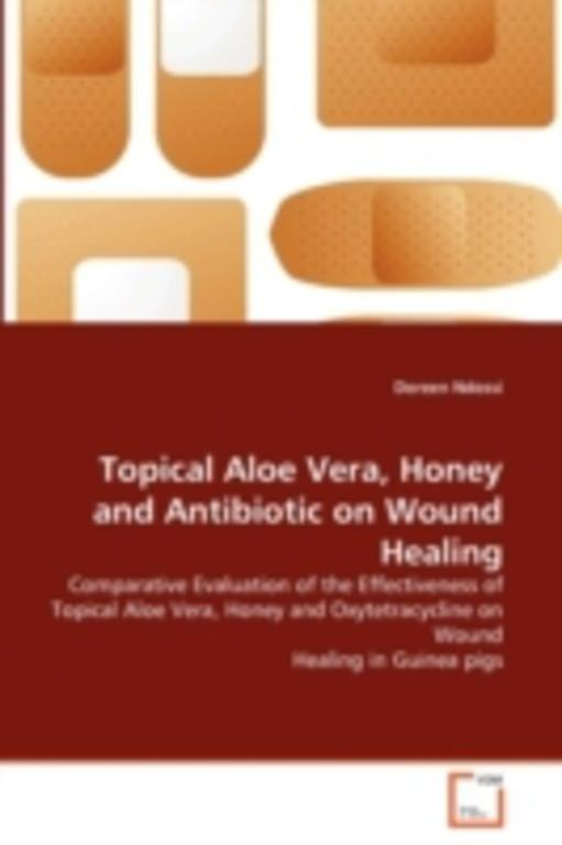 a study of common topical agents used to promote wound healing Comparison of topical antibiotic ointments  and antiseptics on the rate of wound healing and bacterial growth using a dermatologic agents/therapeutic use.