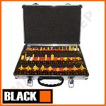 BLACK 35001 profesjonalny zestaw 35-CIU frezów kształtowych do frezarki z tuleją 8mm (frez, frezy do drewna) w sklepie internetowym makita.istore.pl