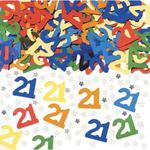 Kolorowe konfetti. Liczba 21. w sklepie internetowym Partykiosk