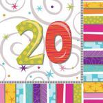 Serwetki papierowe, urodzinowe 16szt./op. w sklepie internetowym Partykiosk