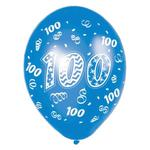 Balony z nadrukiem 100, mix kolorów - 6szt./op. w sklepie internetowym Partykiosk