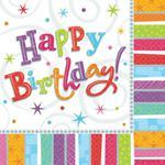 Urodzinowe serwetki -16szt./op. w sklepie internetowym Partykiosk