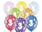 Balony na 3 Urodziny Dziecka 6szt./op. w sklepie internetowym Partykiosk