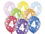 Balony na 4. Urodziny Dziecka 6szt./op. w sklepie internetowym Partykiosk