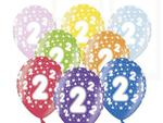 Balony na 2.Urodziny Dziecka 6szt./op. w sklepie internetowym Partykiosk