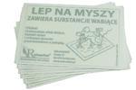 Skuteczny lep na myszy z atrakantem pokarmowym 21x14 cm Rolmarket 50 szt w sklepie internetowym Rolmarket.pl