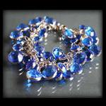 Bransoletka z niebieskich kryształków - niebieski w sklepie internetowym Evangarda.pl