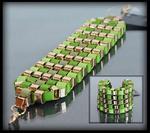 Bransoletka pleciona zielona - zielony w sklepie internetowym Evangarda.pl
