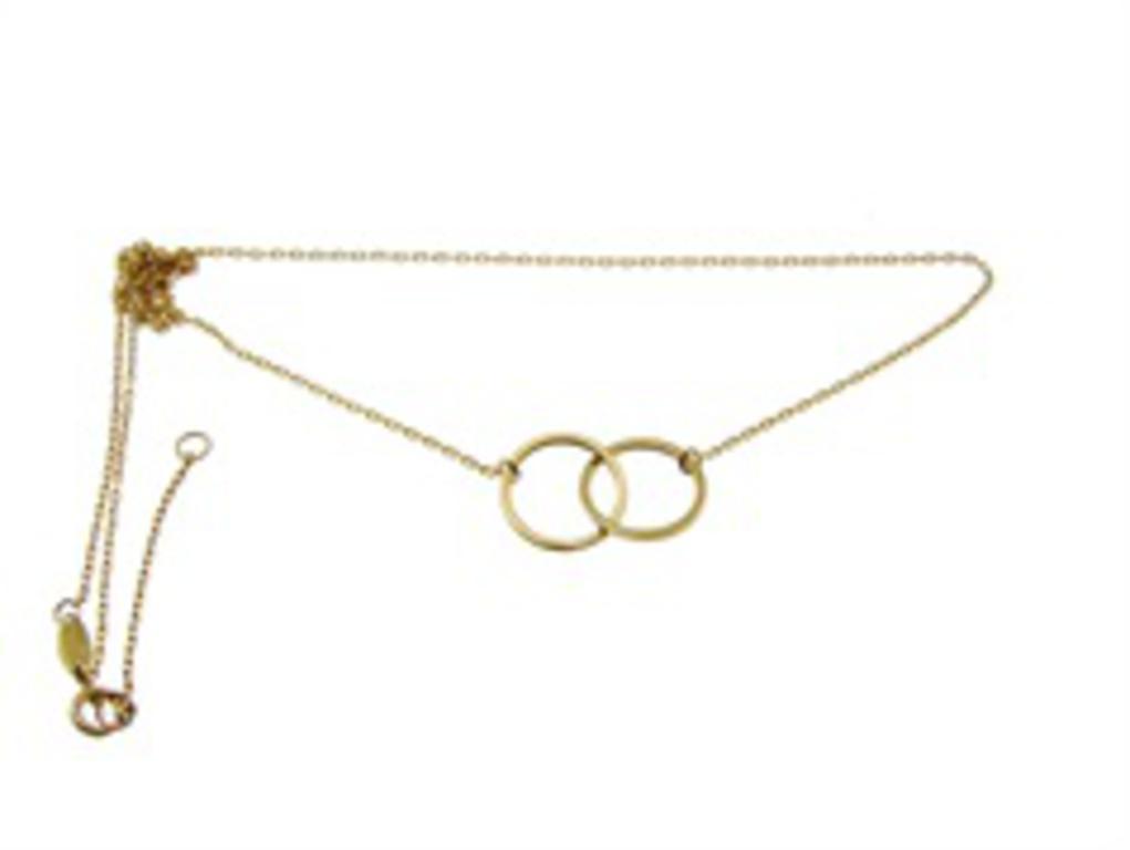 74f3720ccc158b Złoty naszyjnik 2 złote kółka YES VERONA w sklepie internetowym Legance.pl.  Powiększ zdjęcie