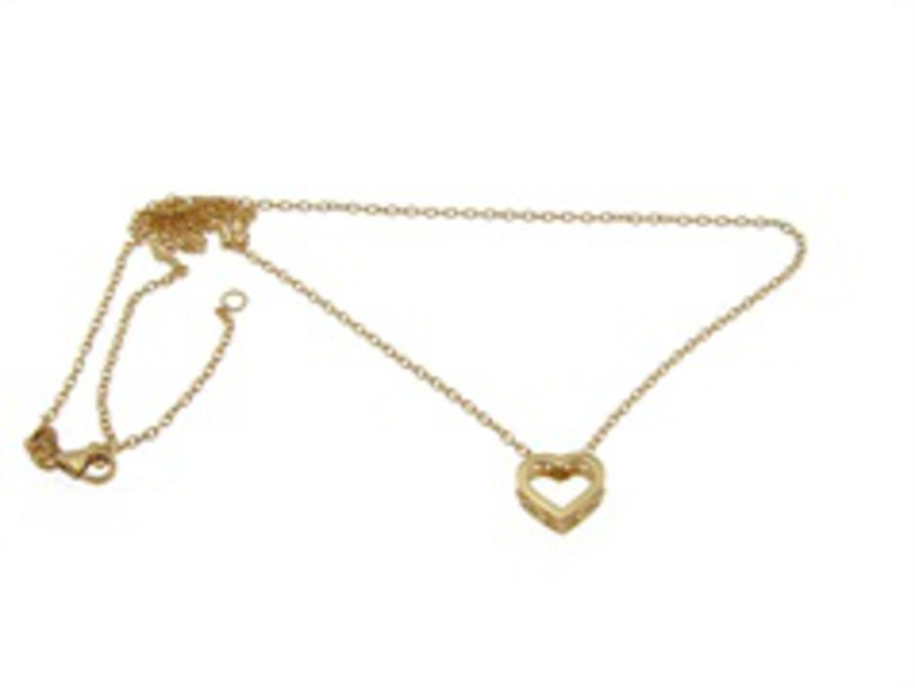 590d43a9369ebc Złoty naszyjnik z sercem YES VERONA w sklepie internetowym Legance.pl.  Powiększ zdjęcie