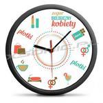 Śmieszny zegar biologiczny kobiety co będzie o której dla kobiet wiszący w sklepie internetowym Xsonic.pl