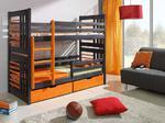 Łóżko sosnowe piętrowe Roland - sosna lakier w sklepie internetowym meble-bik.pl