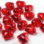 Kryształowe serca 21 mm/30 szt - czerwony - CZE w sklepie internetowym CreativeHobby.pl