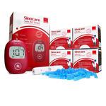Glukometr Safe AQ Smart zestaw 200 testów nakłuwacz SinoDraw i 50 lancet oraz etui. w sklepie internetowym RedMed.pl