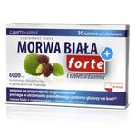 Morwa Biała Plus Forte - 30 tabletek - ekstrakt z morwy białej, cynamonowca, chrom, witamina B12 w sklepie internetowym RedMed.pl