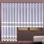 Firanka haftowana z aplikacją 121336 - wys 160 cm - biała na metry w sklepie internetowym Kasandra
