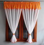 Firana Gotowa Krysia 300x150cm (pomarańczowo-biała) w sklepie internetowym Kasandra