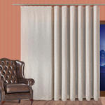 Tkanina jednobarwna z ołowianką 001638-009 - wysokość 300 cm - szaro-beżowa w sklepie internetowym Kasandra